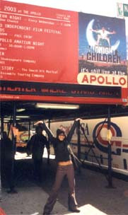 Outside The Apollo, Harlem, NY where Midnight's Children was running