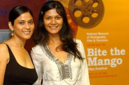 Meneka and Sheenu at Bite The Mango Film Festival