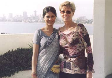 with Eskelde Poona director Eva Isaksen in Mumbai