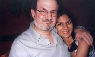 Meneka with Salman Rushdie